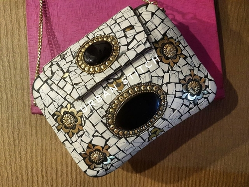 Antique Handmade Mosaic Metal Bag in  16-Sector - Rohini