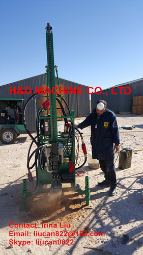 HD-40D Seismic Man Portable Drilling Rig in   Hebei Province