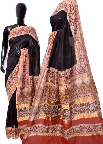 Pure Chanderi Silk Saree in  Satara Road