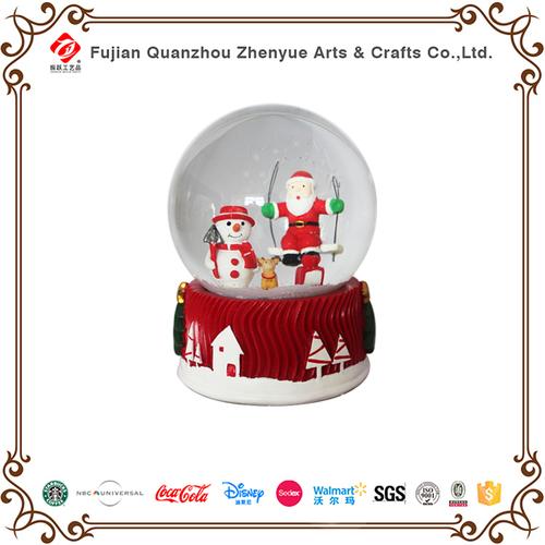 Snow Glo2018 Resin Santa Christmas Led Snow Globe