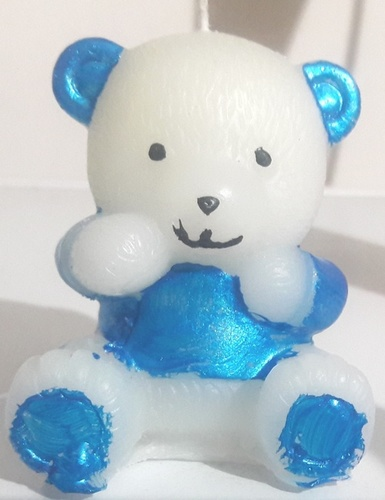 Big Size Teddy Bear Candles in  New Area