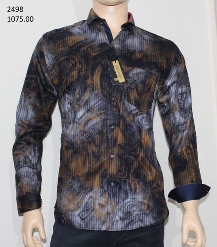 Mens Slim Printed Shirts in  Samaipur