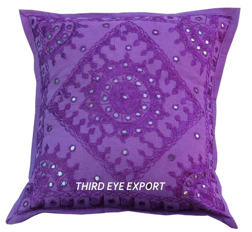 16 Mirror Embroidered Ethnic Decorative Cushion Pillow Cover in  New Area
