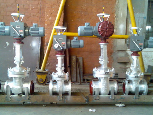 Electric motor operated gate valve in ahmedabad gujarat for How motor operated valve works