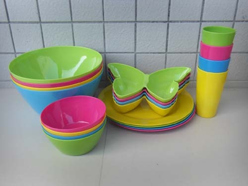 Plastic Melamine Dinner Set