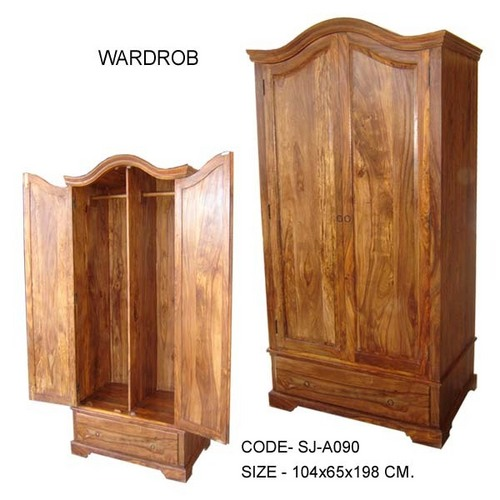 Designer handcrafted wooden almirah in boranada jodhpur for Bedroom wooden almirah designs