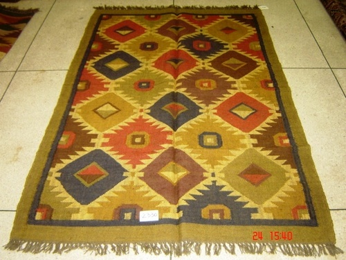 New Year Deal Cotton Dhurrie Rug 39 C Celebration 4x6 India