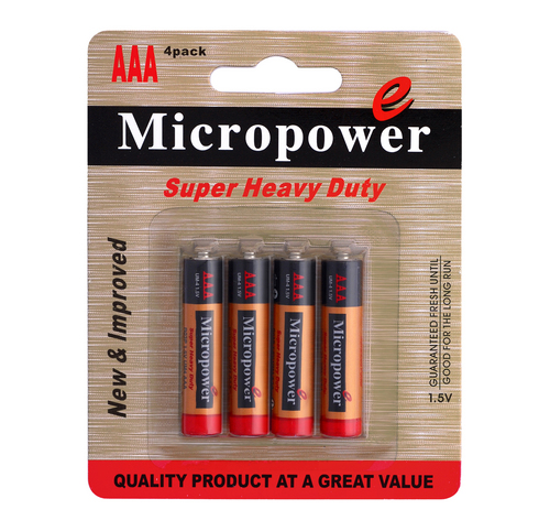 Zinc Carbon AAA Battery