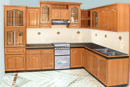 Wooden modular kitchen in ludhiana punjab sphere crafts for Kenya kitchen designs