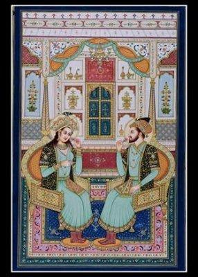 MUGHALS KING & QUEEN PORTRAITS