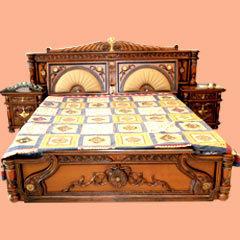 hand carved double bed in new brijpuri delhi nizamuddin furnitures