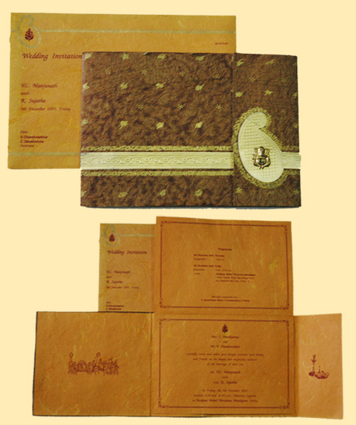 Wedding Gifts For Couples In Chennai : ANTIQUE WEDDING INVITATION CARDS in Arcot Road, Chennai Menaka Cards ...