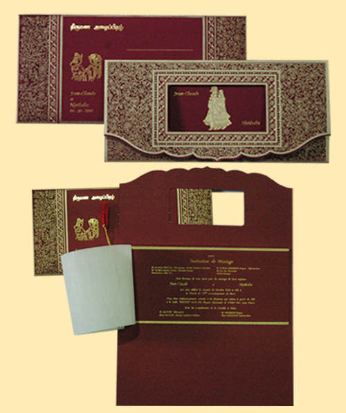 Antique wedding invitation cards in arcot road chennai manufacturer wedding invitation cards stopboris Gallery