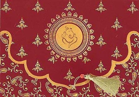 Handmade Silk Paper Wedding Cards