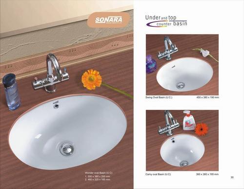 Under counter wash basins in dist morbi morbi manufacturer for Latest wash basin designs india