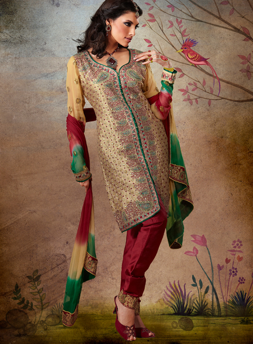 Silk Salwar Suit in Parklane, Secunderabad | Taruni Clothing ...