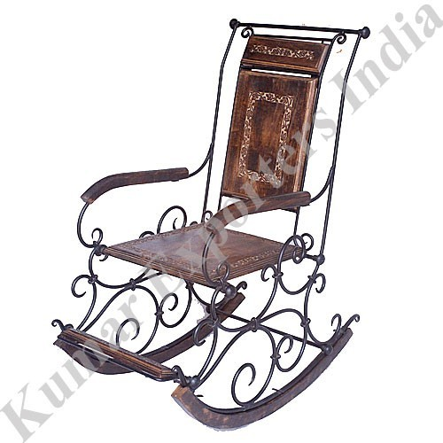Antique Wrought Iron Rocking Chairs