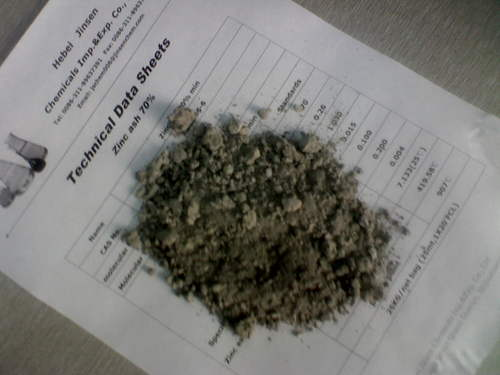 Zinc Ash