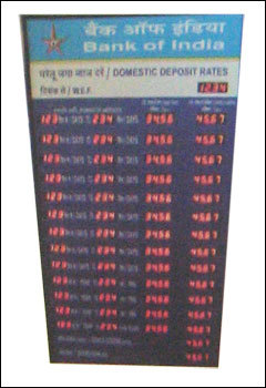Led Bank Interest Rate Display Board