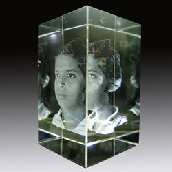 3d Face Crystal Glass In Aminjikarai Chennai Tamil Nadu