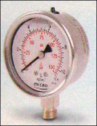 63mm Bottom Mounting Micro Glycerin Filled Pressure Gauges in   Kalol