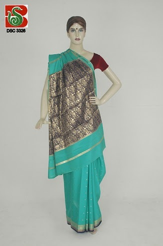 Pure Mysore Silk with Rich Pallu Saree