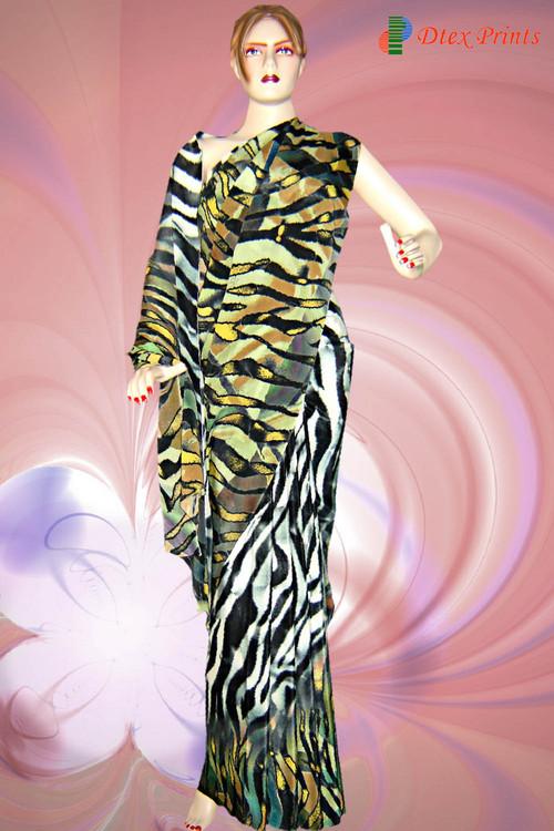 Designer Digital Printed Saree in  Nanpura