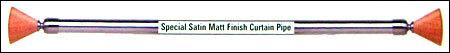 S.S. Special Matt Finish Curtain Pipe