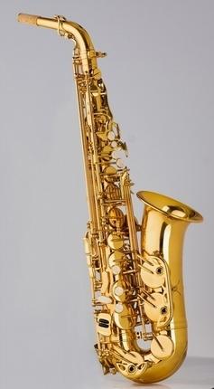 Yellow Brass Saxophone