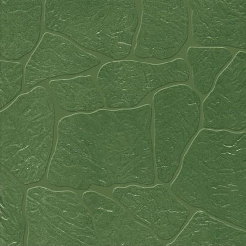 Vitrified Green Wavy Parking Tiles
