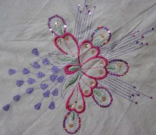 Sequins Embroidery Fabric