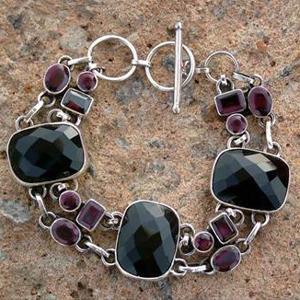 Gemstone Studded Silver Bracelets