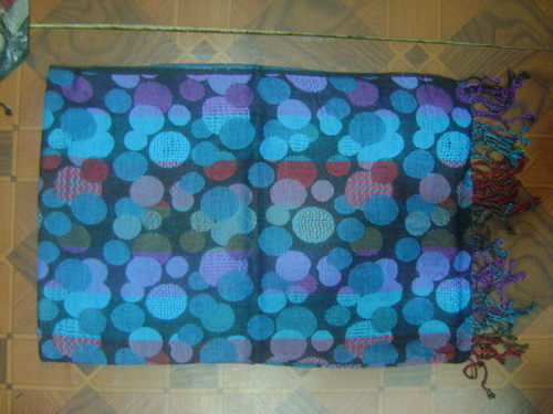 Viscose Stole With Mock Weave