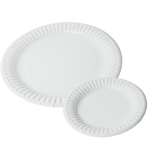 Pure White Paper Plates