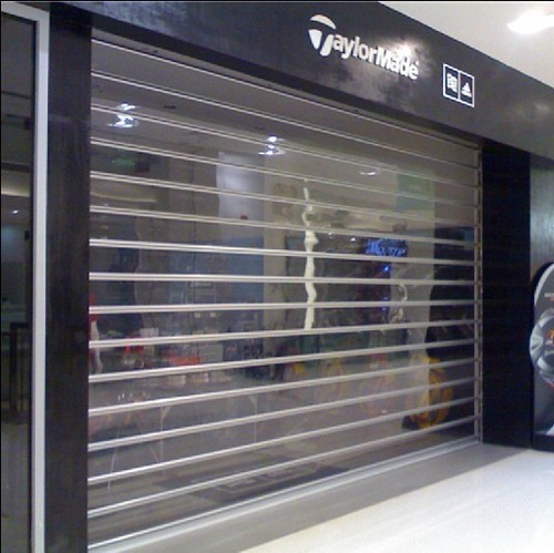 Transparent Roller Shutter Door In Nancun Town Guangzhou