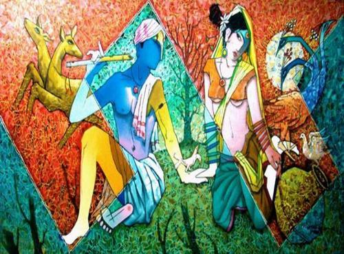 Oil Painting On Canvas (Dekora-12)