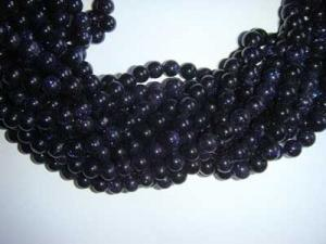 Blue Gold Bead