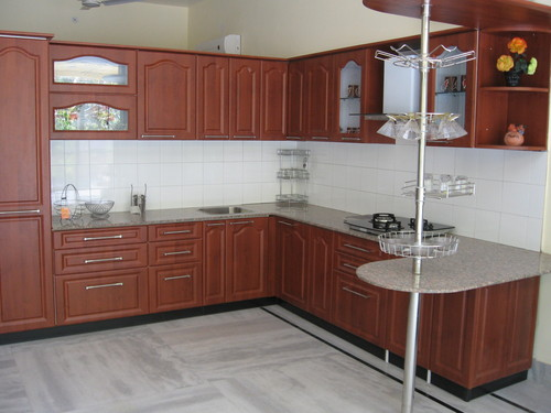 Modular kitchen l type in sardarpura jodhpur j k hardware for Best material for kitchen cabinets in india