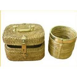 Bamboo And Cane Storage Basket