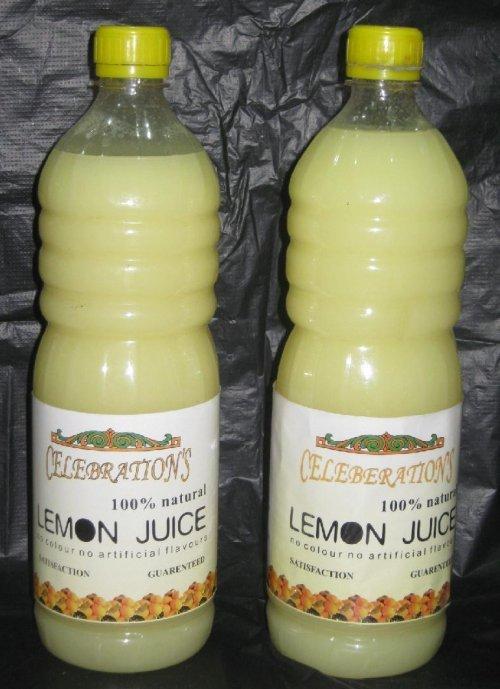 100% Natural Lemon Juice