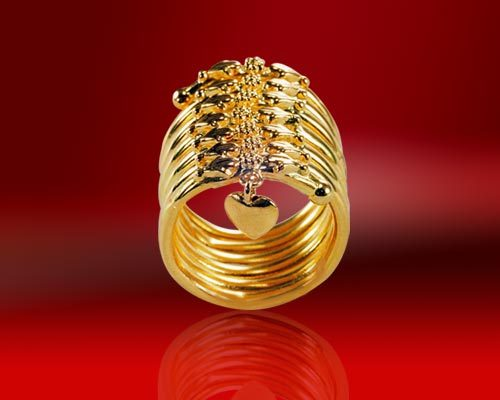 22 K Spiral Gold Rings in Mumbai Maharashtra L S DIAMONDS INDIA