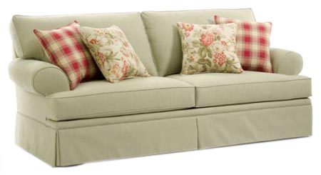 Sleek Upholstery Sofa Set