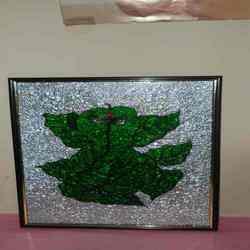 Ganesha In Leaf Form Painting