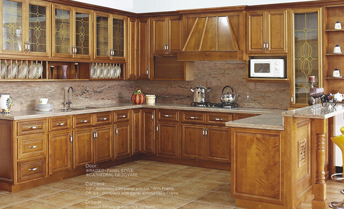 American style solid wood kitchen cabinet units in shunde for A one kitchen cabinets ltd