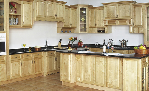 canada maple solid wood kitchen cabinet unit in shunde district