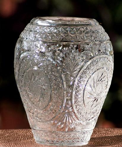 Crystal Urn Flower Vases
