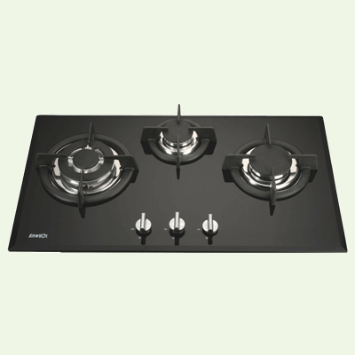 Glass Top Gas Stove Three Burner