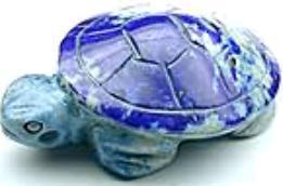 Carved Lapis Turtle