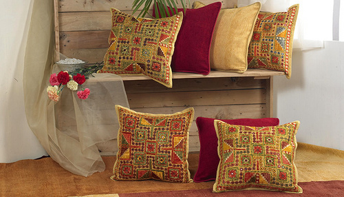 Ethnic Cushion Covers in Mumbai Maharashtra SHAHENAZ EXPORTS