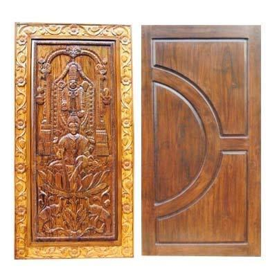 Indian teak wood doors in bowenpally secunderabad for Traditional main door design